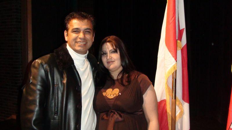Essraa (right) and Wafik Bakir