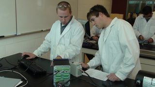 B-Tech students Dan Frassetto (left) and Cody Snyder.