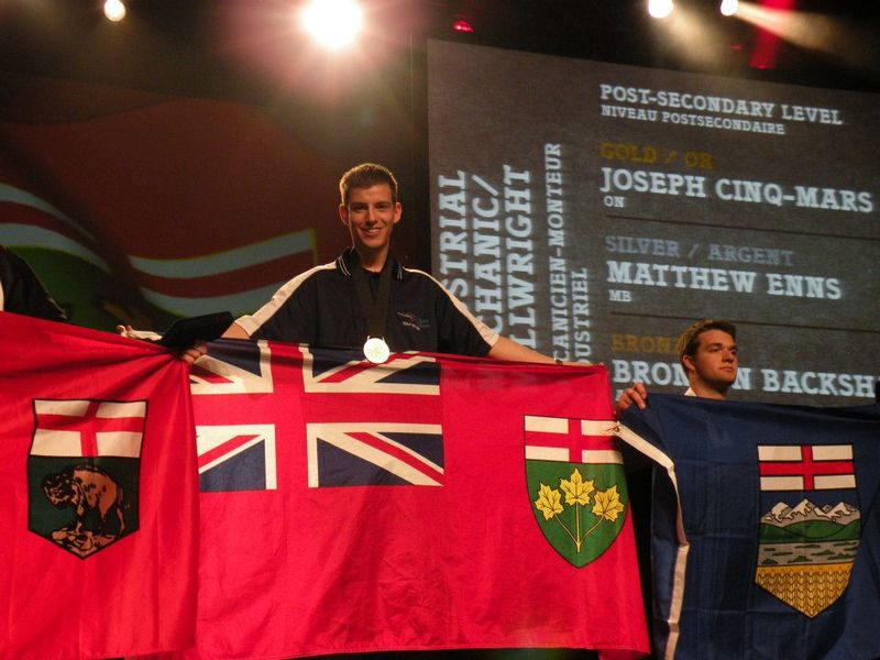 National Skills Comp Winner Joseph Cinq-mars