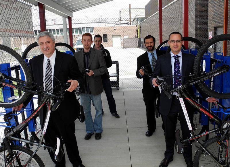 Bike Shelter Opening