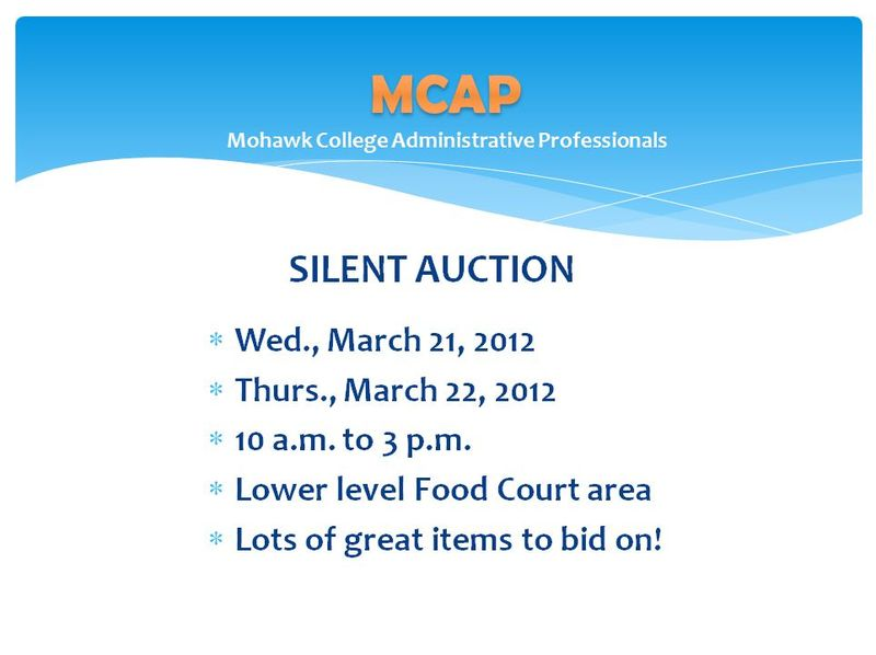 MCAP Silent Auction